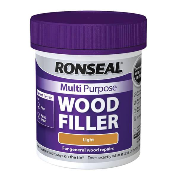 Ronseal Multipurpose Wood Filler Tub - Light - 250g