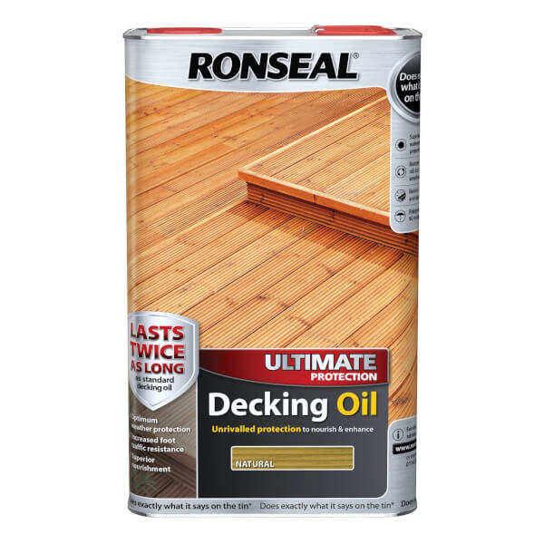 Ronseal Ultimate Protection Decking Oil Natural - 5L