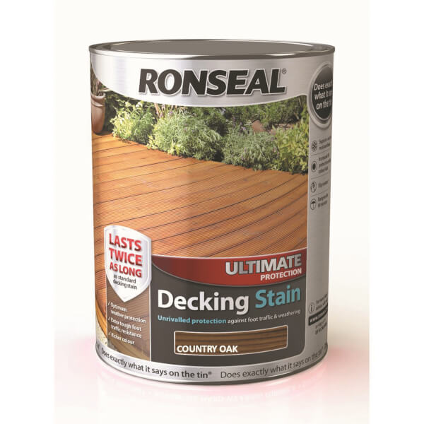 Ronseal Ultimate Protection Decking Stain Country Oak - 5L