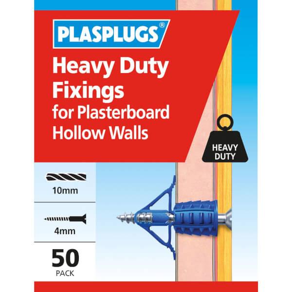 Plasplugs HD Plasterboard Hollow Wall Fixings x 50