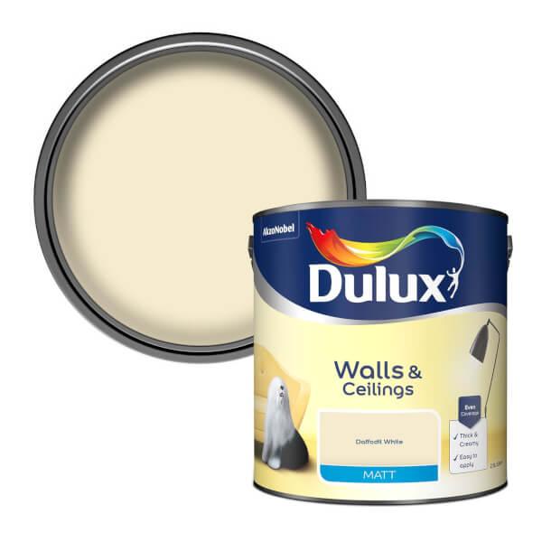 Dulux Daffodil White - Matt Emulsion Paint - 2.5L