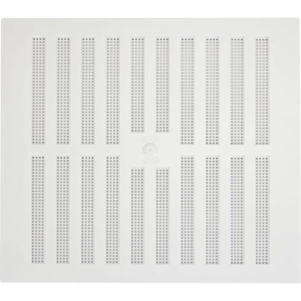 Adjustable Louvred Vent - 229 x 229mm - White Plastic