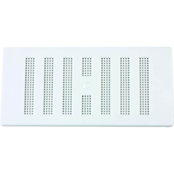 Adjustable Louvred Vent - 152 x 76mm - White Plastic