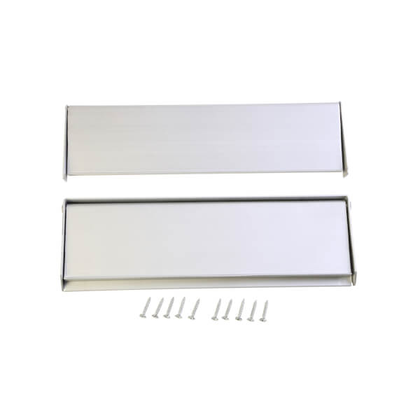 Aluminium Letterplate & Letter Tidy - 250mm