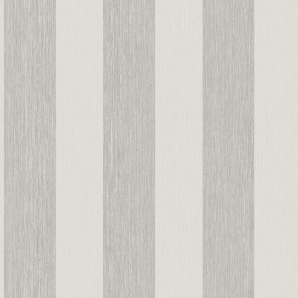 Grandeco Bromley Stripe Pale Silver Wallpaper