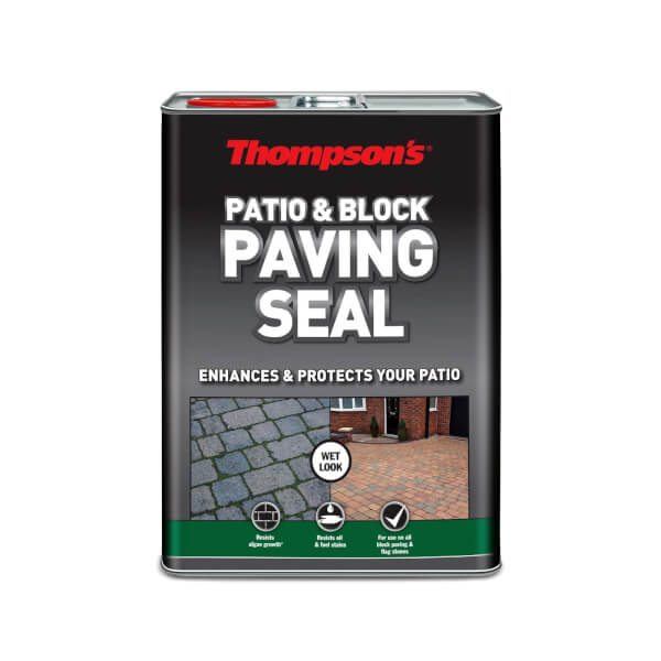 Thompsons Patio And Block Paving Seal - Wet Look Finish - 5L
