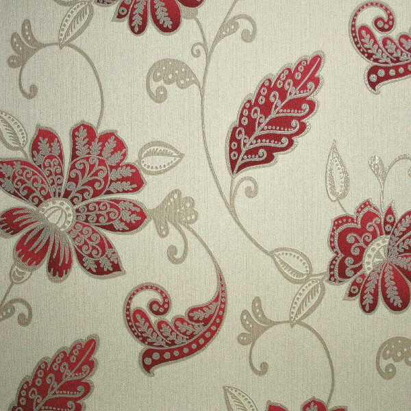 Boutique HWV Premier Juliet Red Wallpaper