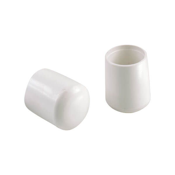 Chair Feet Covers - White - 22mm - 4 Pack