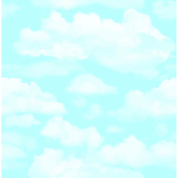 Fresco Cloud 9 Wallpaper - Blue