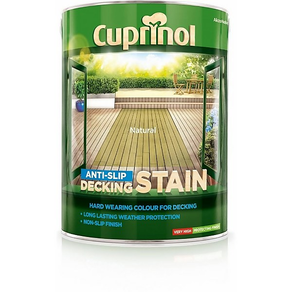Cuprinol Anti-Slip Decking Stain - Natural - 5L