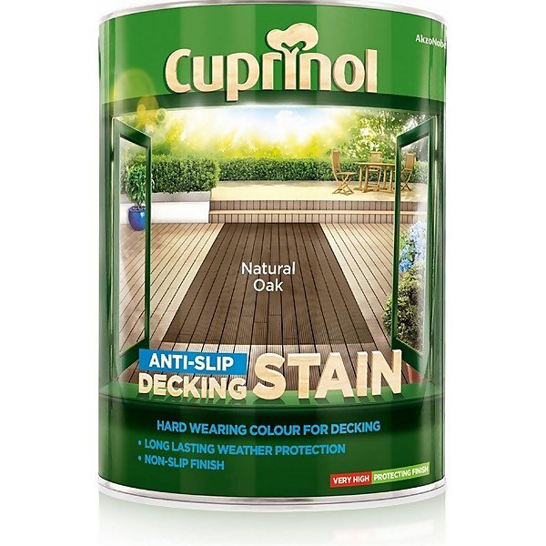 Cuprinol Anti-Slip Decking Stain - Natural Oak - 5L