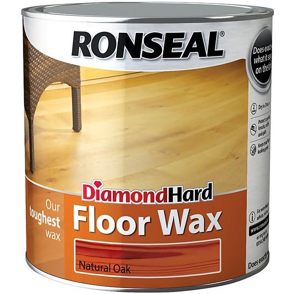 Ronseal Diamond Hard Floor Wax - Oak - 2.5L