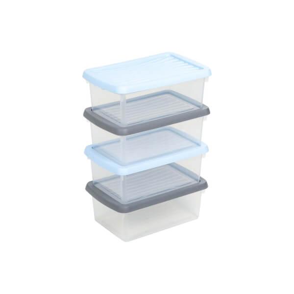 Whambox 4 Piece Handy Storage Boxes - 3.5L