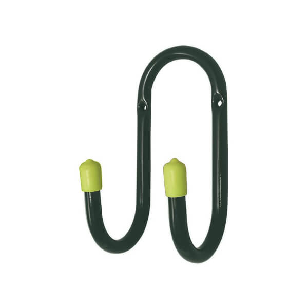 Utility Double Hook - Blue and Green - 70mm - 3 Pack