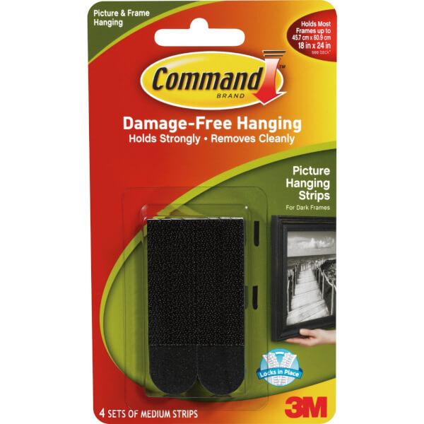 3M CommandMedium Picture Hanging Strips Black