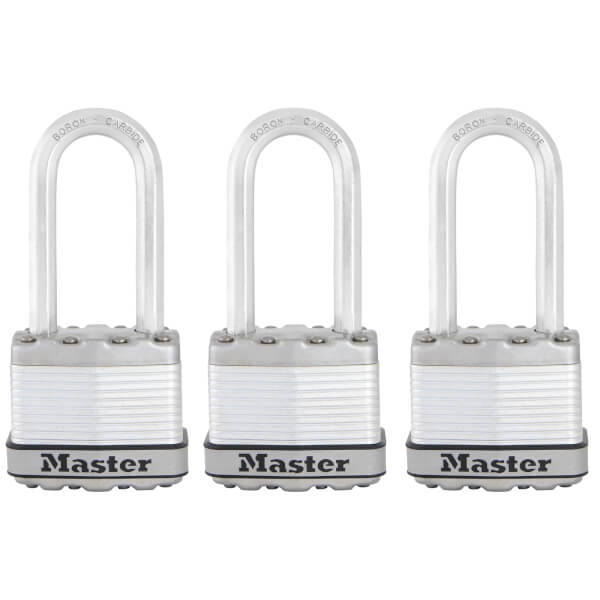 Master Lock Excell Padlock - 45mm - 3 Pack