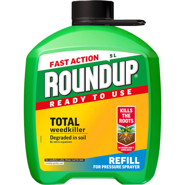 Roundup Total Ready To Use Pump N Go Weedkiller Refill - 5L