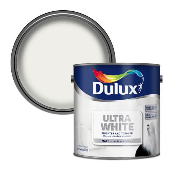 Dulux Ultra White - Matt Emulsion Paint - 2.5L
