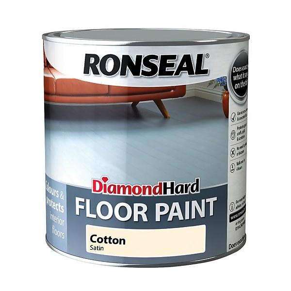 Ronseal Diamond Hard Floor Paint Cotton - 2.5L