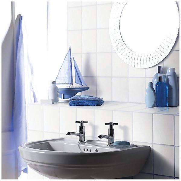 Plain Flat White Wall Tiles - 250 x 200mm