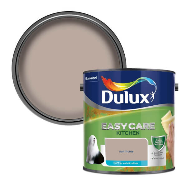 Dulux Easycare Kitchen Soft Truffle - Matt Emulsion Paint - 2.5L