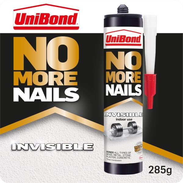 UniBond No More Nails Grab Adhesive Cartridge Invisible 285g