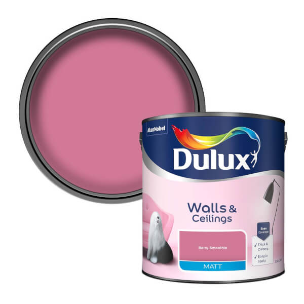 Dulux Berry Smoothie - Matt Emulsion Paint - 2.5L