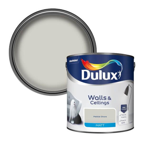 Dulux Standard Pebble Shore - Matt Emulsion Paint - 2.5L