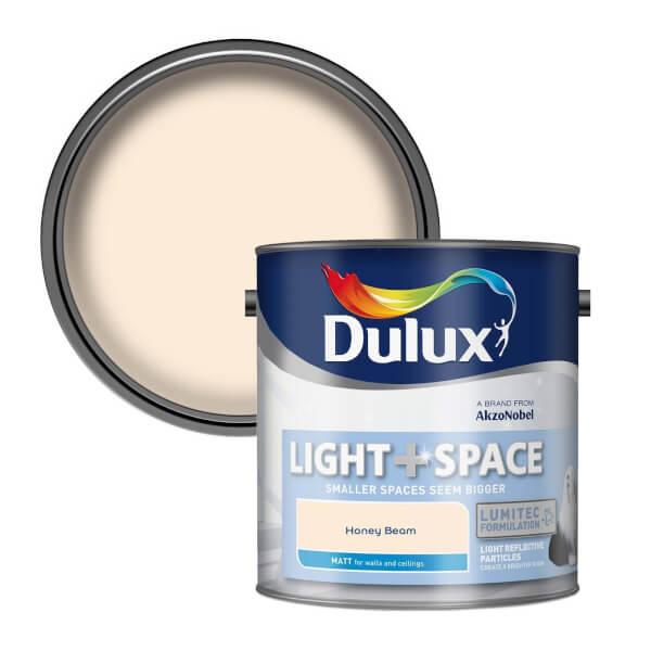 Dulux Light & Space Honey Beam - Matt Emulsion Paint - 2.5L