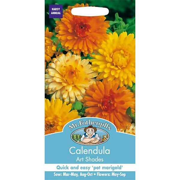 Mr. Fothergill's Calendula Pot Marigold Art Shades (Calendula Officinalis) Seeds