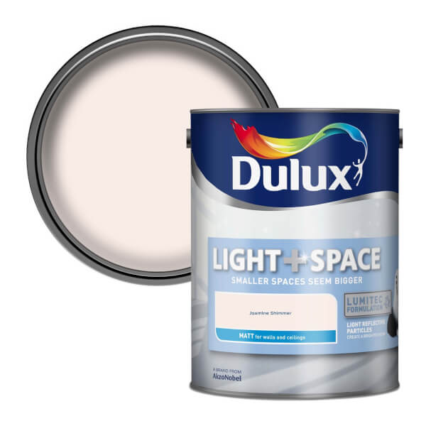 Dulux Light & Space Jasmine Shimmer - Matt Emulsion Paint - 5L