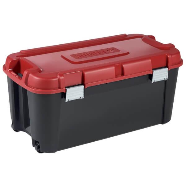 Allibert by Curver Totem Heavy Duty Plastic Storage Box -Red & Black - 80L