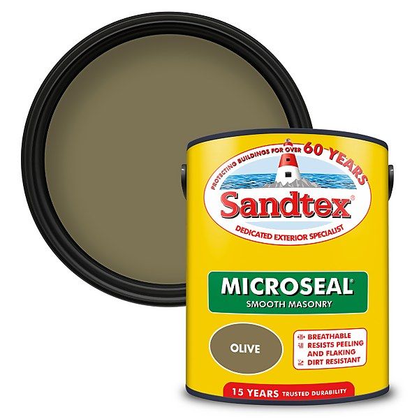 Sandtex Ultra Smooth Masonry Paint - Olive - 5L