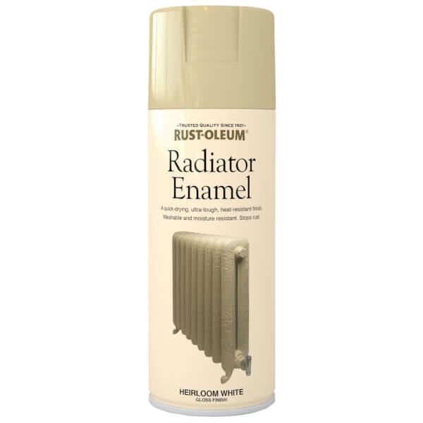 Rust-Oleum Radiator Paint Heirloom White - Spray - 400ml