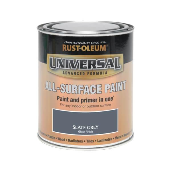 Rust-Oleum Universal All Surface Gloss Paint & Primer - Slate Grey - 750ml