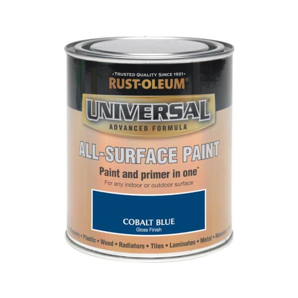 Rust-Oleum Universal All Surface Gloss Paint & Primer - Cobalt Blue - 750ml
