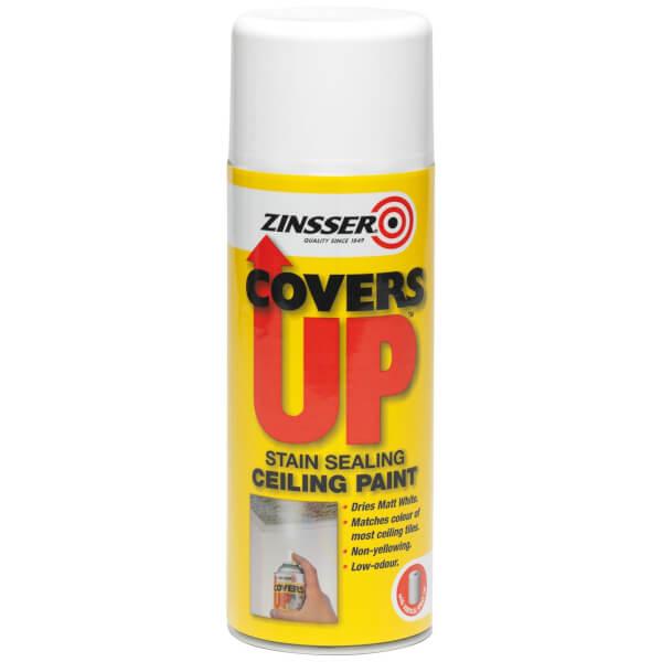 Rust-Oleum Zinsser White - Cover Up Matt Spray Paint - 400ml