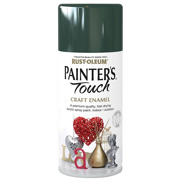 Rust-Oleum Painters Touch - Craft Enamel Spray Paint Oxford Green Gloss - 150ml