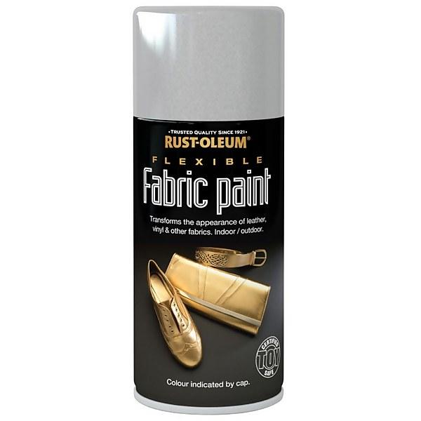 Rust-Oleum - Flexible Fabric Paint Silver - Spray - 150ml