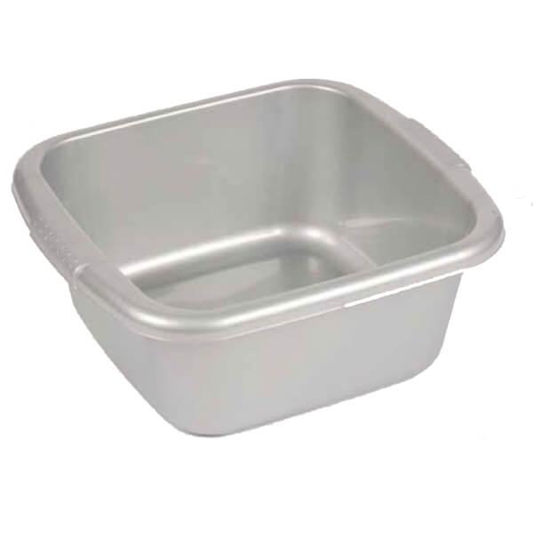 Curver Square Washing Bowl - Silver