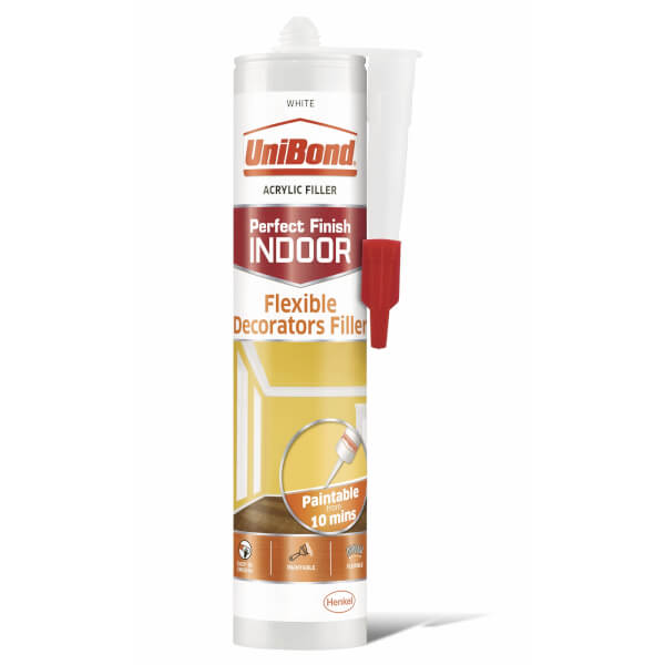 UniBond Indoor Sealant Flexible Decorators Filler Cartridge White 455g