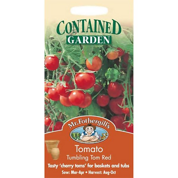 Mr. Fothergill's Tomato Tumbling Tom Red (Lycopersicon Lycopersicum) Seeds