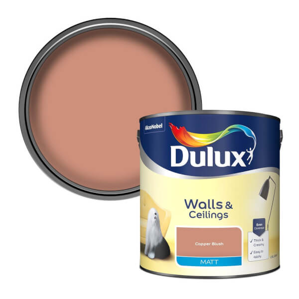 Dulux Matt Copper Blush Matt Emulsion Paint - 2.5L