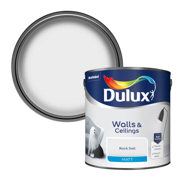 Dulux Matt Rock Salt Matt Emulsion Paint - 2.5L