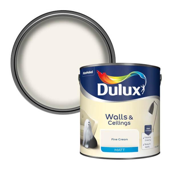 Dulux Matt Fine Cream Matt Emulsion Paint - 2.5L