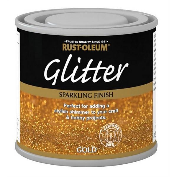 Rust-Oleum Glitter Gold Paint - 125ml