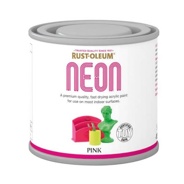 Rust-Oleum Neon Pink Paint - 125ml