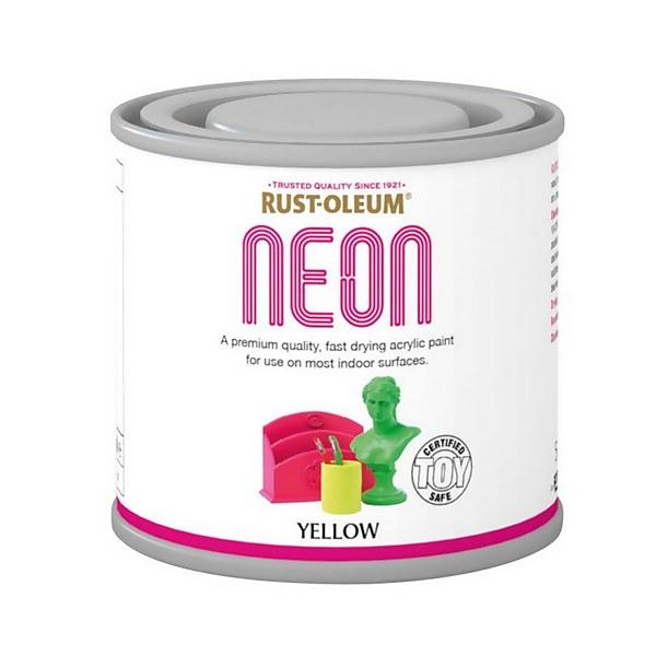 Rust-Oleum Neon Yellow Paint - 125ml