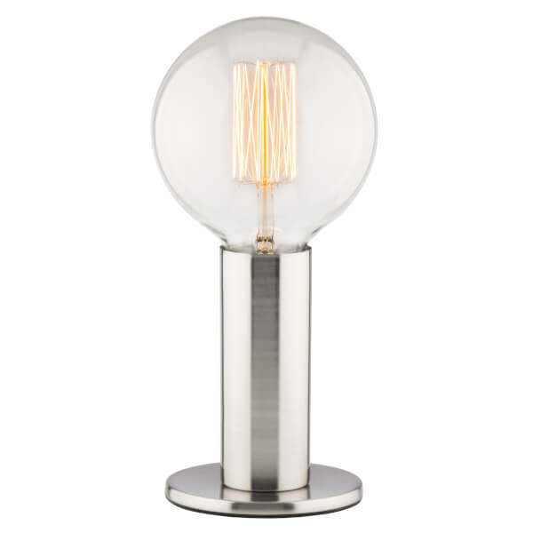 Asha Satin Nickel Table Lamp