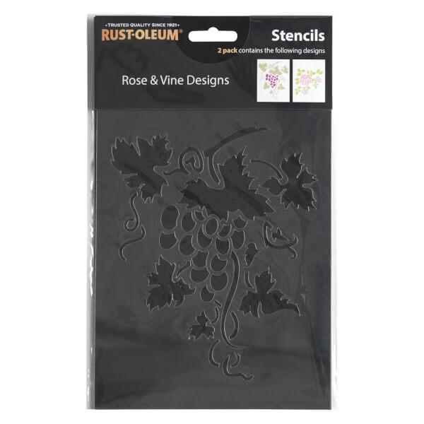 Rust-Oleum Stencil Rose and Vine Designs